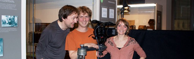 Alastair Owen and Jakob Wehrman of Edelbytes & actor Eli
